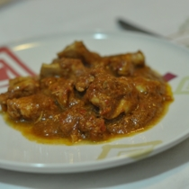 Pollo al curry piccante